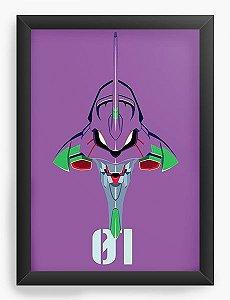 Quadro Decorativo A3 (45X33) Anime Neon Genesis Evangelion Fly