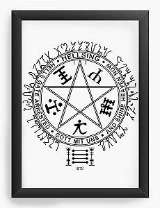 Quadro Decorativo A3 (45X33) Anime Hellsing Simbol