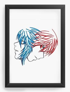 Quadro Decorativo A3 (45X33) Anime Death Note Kira vs L