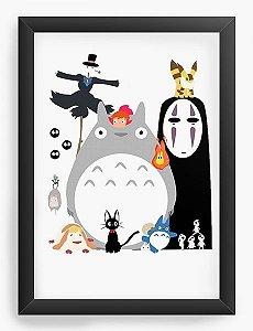 Quadro Decorativo A3 (45X33) Anime Totoro Studio Ghibli Gang