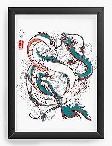 Quadro Decorativo A3 (45X33) Anime Japanese Dragons