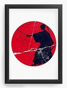 Quadro Decorativo A3 (45X33) Anime Samurai Champloo Jin