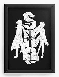 Quadro Decorativo A3 (45X33) Anime Sword Art Online Love