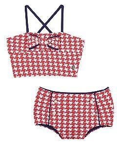 Bikini Bella Vichy Vermelho