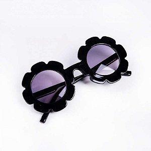 Óculos de Flor Preto