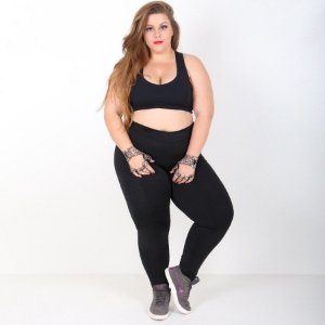 Calça Legging Lisa Suplex Plus Size