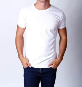Camiseta Branca Básica 100% Algodão Fio 30.1