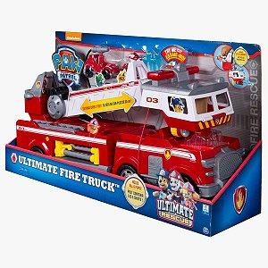 Veiculo Patrulha Canina Ultimate Fire Truck Bombeiros