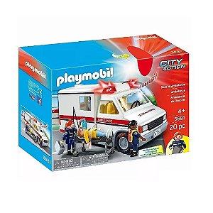 Ambulância City Action Com 20 Peças Original Playmobil 270