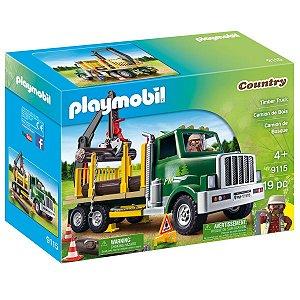 Playmobil Caminhao Porta Madeira 9115 Sunny