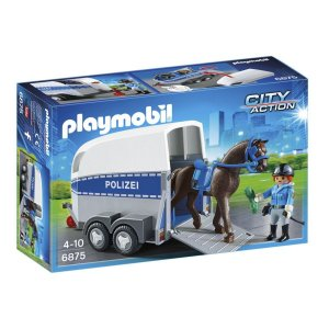 Playmobil 6875 City Action Policia Montada com Trailer