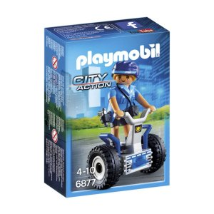Playmobil 6877 City Action Policia Feminina Com Segway