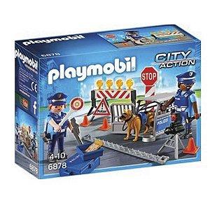Playmobil 6878 Unidade Policial De Bloqueio Com Cães
