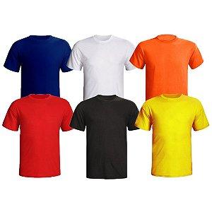 Camiseta Masculina Dry Fit Plus Size (Kit com 3 Unidades)
