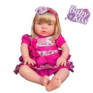 Boneca Baby Kiss C/ Som Chora E Balbucia Loira