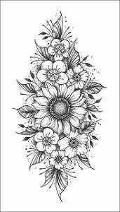 Tatuagem antebraço Girassol