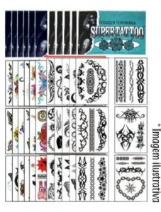 Kit 1296 Tatuagens Tribais e Coloridas