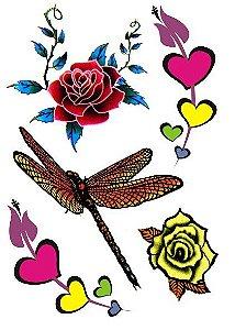 C007 Flor e Borboleta