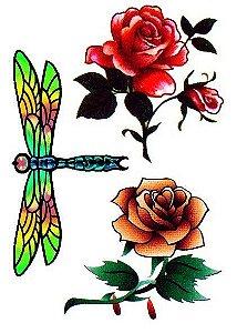 C015 Libélula e Flores