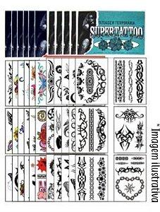 Kit 72 Tatuagens Tribais e Coloridas