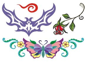 C023 Tribal, Borboleta e Flor