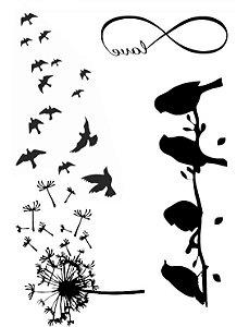 PB001 Pássaros, Infinito, Love e Dente de Leão
