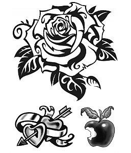 PB004 Flor, Coração e Maçã