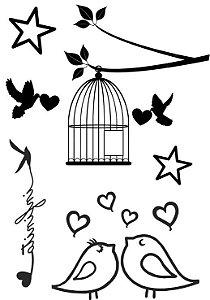 PB010 Pássaros, Gaiola e Estrelas