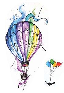 AQ001 Balão e Bexigas com Âncora
