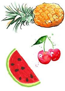 AQ012 Abacaxi, Cereja e Melancia