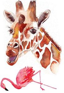 AQ006 Girafa e Flamingo
