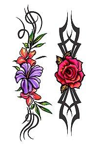 001 Feminina Grande Rosas