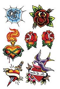 VG010 Flores, coração e andorinha
