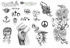 Kit tatuagens Lady Gaga