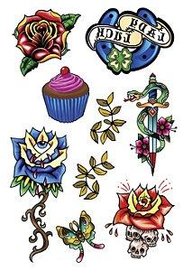 VG012 Cupcake e flores