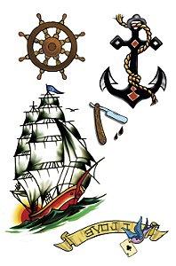 VG015 Barco, timão e âncora