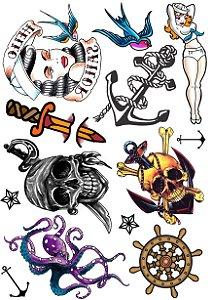 Kit Tatuagens Marinheiro