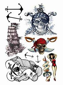 Kit Tatuagens Pirata