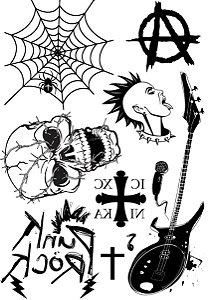 Kit Tatuagens Punk