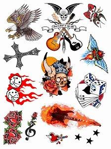 Kit Tatuagens Roqueiro