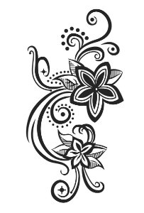 014 Feminina Grande Flores Tribal