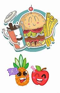 Criança Hambúrguer, Maça e Abacaxi Crazy