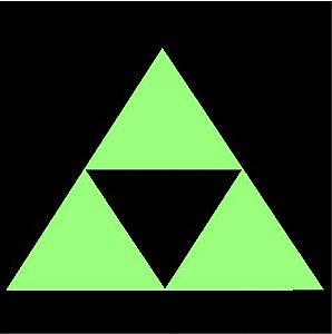 Brilha no escuro triângulo
