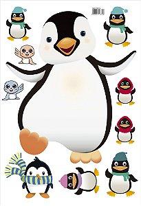 Adesivo Decorativo Pinguim