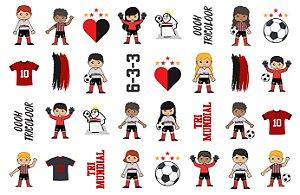 058 Kit Festa futebol tricolor