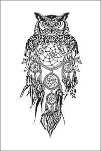 Tatuagem Coruja PB| VR03