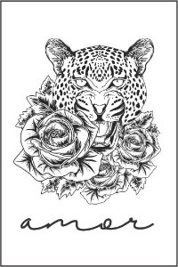 Tatuagem Onça |Amor | PB| VR09