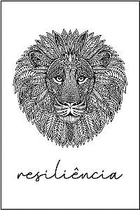 Tatuagem Leão |Resiliência | PB| VR010