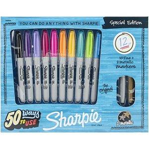 Marcadores Permanentes Sharpie - Special edition ( 12 cores)