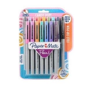 Canetas Flair 0.4mm Candy Pop (Kit com 16) Paper Mate
